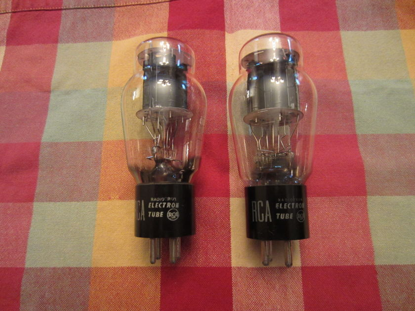 RCA 2a3 matched pair Black Plate NOS