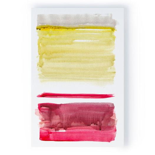 Картина Желтый с красным, 40x60 см
