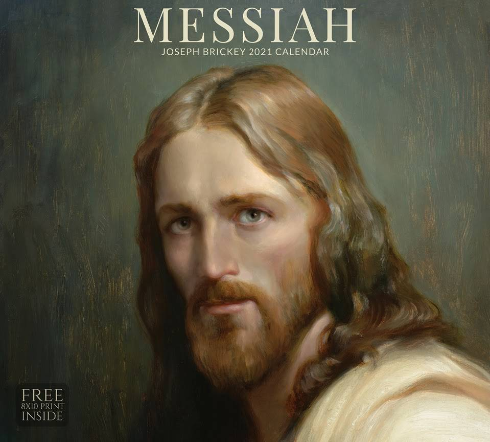 2021 calendar cover of a classic portrait of Christ.