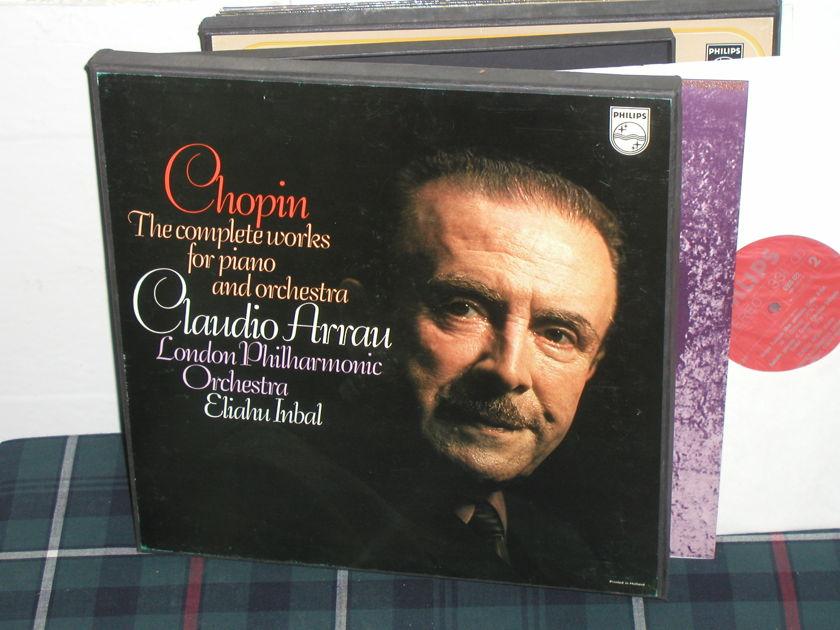 Arrau/Inbal/Lpo - Chopin Works for Pno Philips Import 3LP  6500