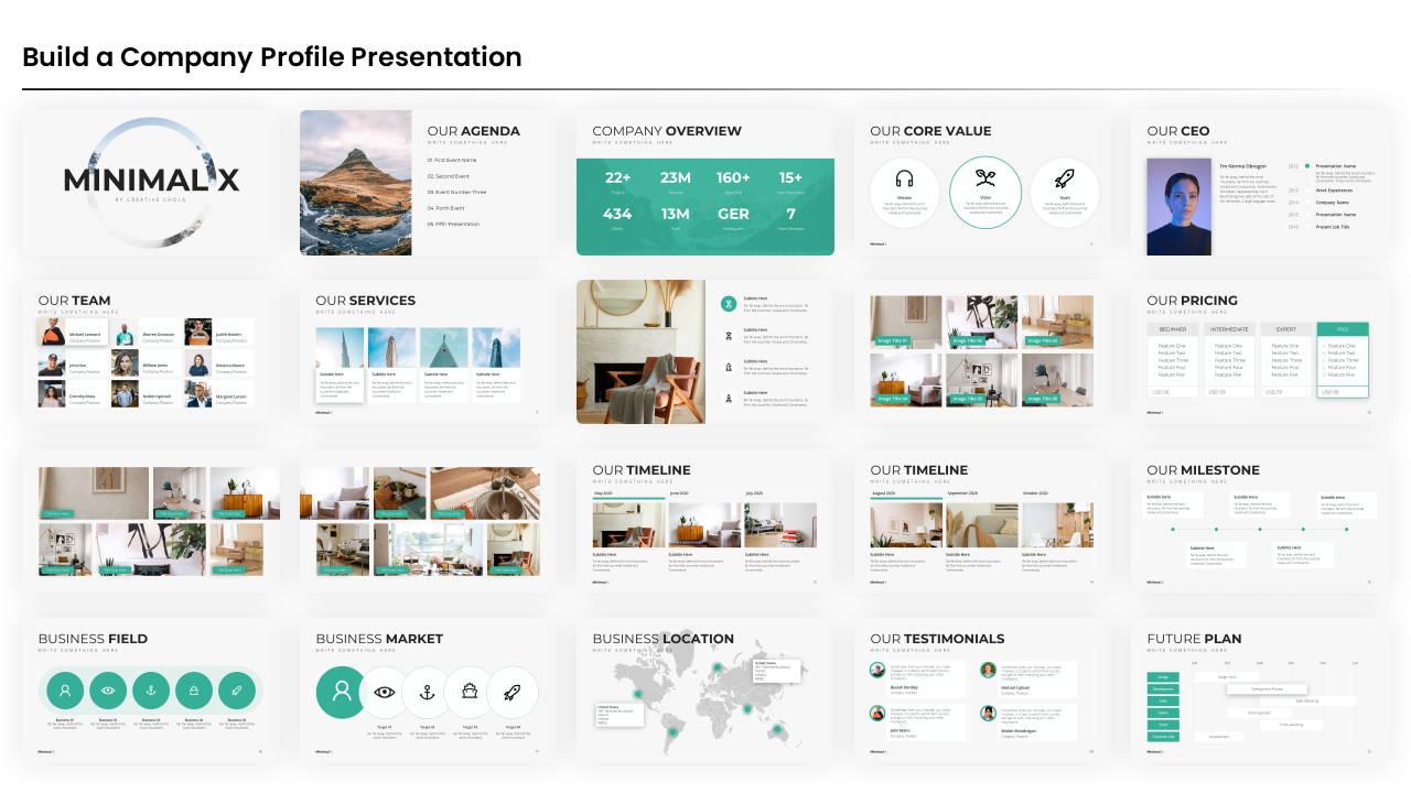 company profile powerpoint presentation template, company profile presentation template