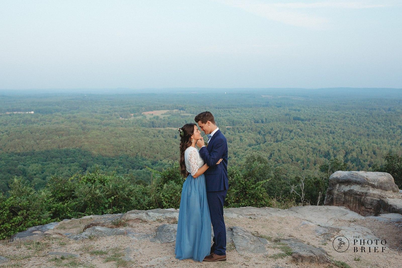 Magical Mountaintop Blue Elopement
