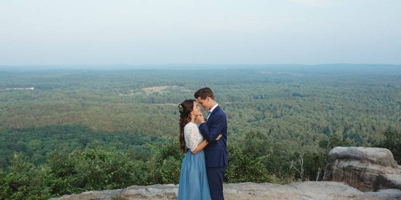 Magical Mountaintop Blue Elopement