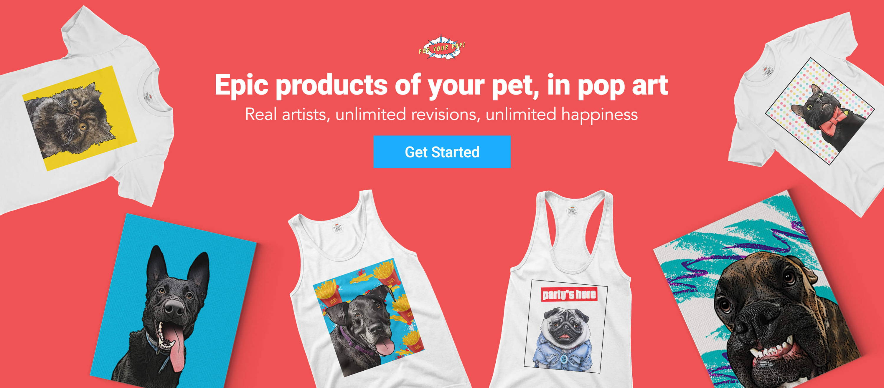 Custom pet pop art dogs cats more pop your pup shop all products m4hsunfo