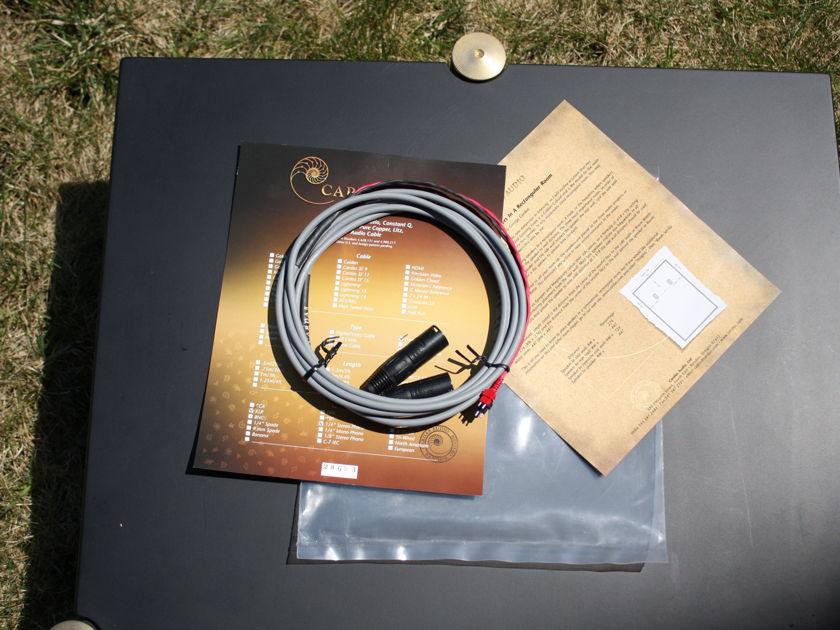 CARDAS XLR Balanced Headphone Cable For Sennheiser HD600/HD650 10ft.
