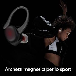 Amazfit Powerbuds - Ganci per le orecchie magnetici per sport. Stabili e confortevoli, adatti per fare esercizio