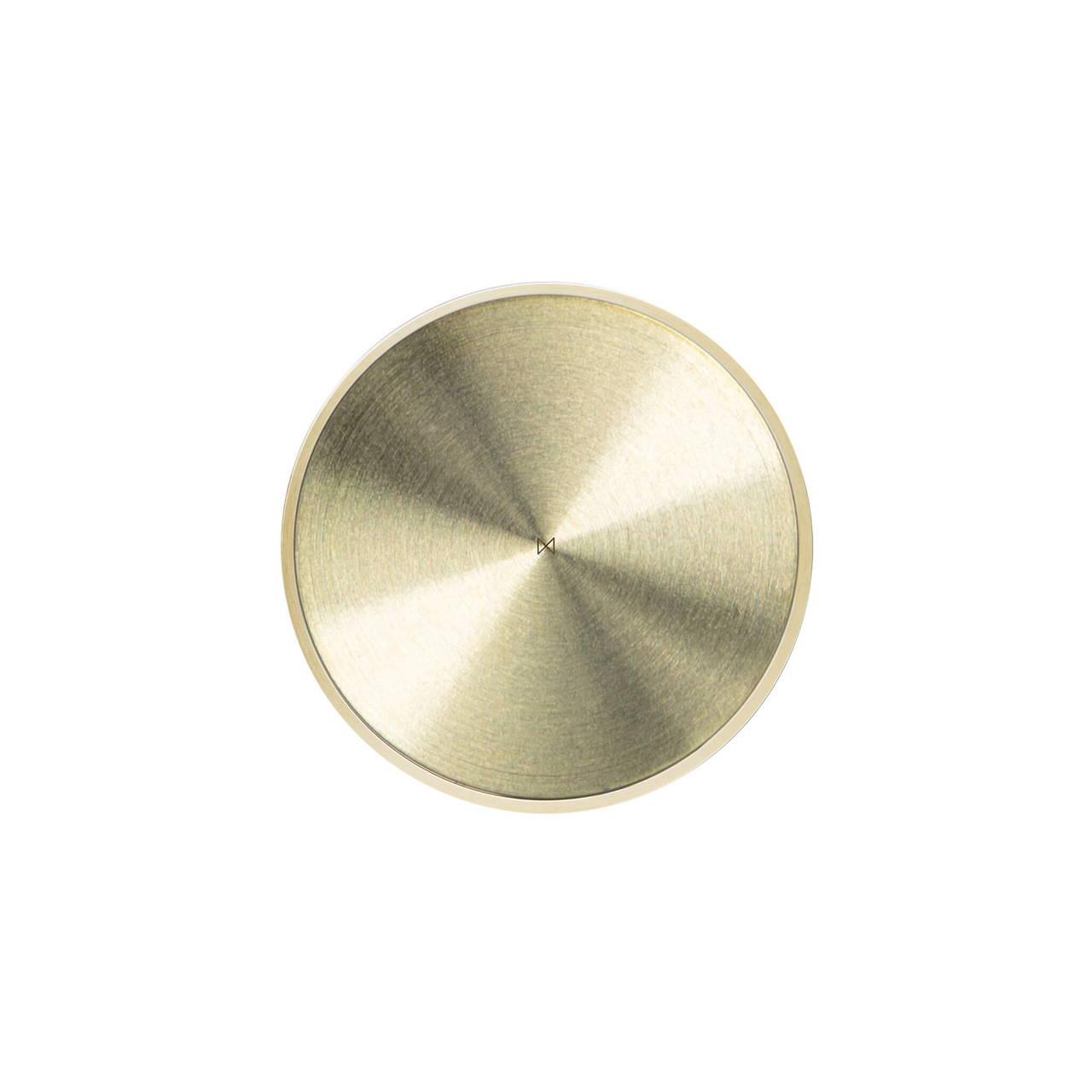 Brass Pocket Mirror back face