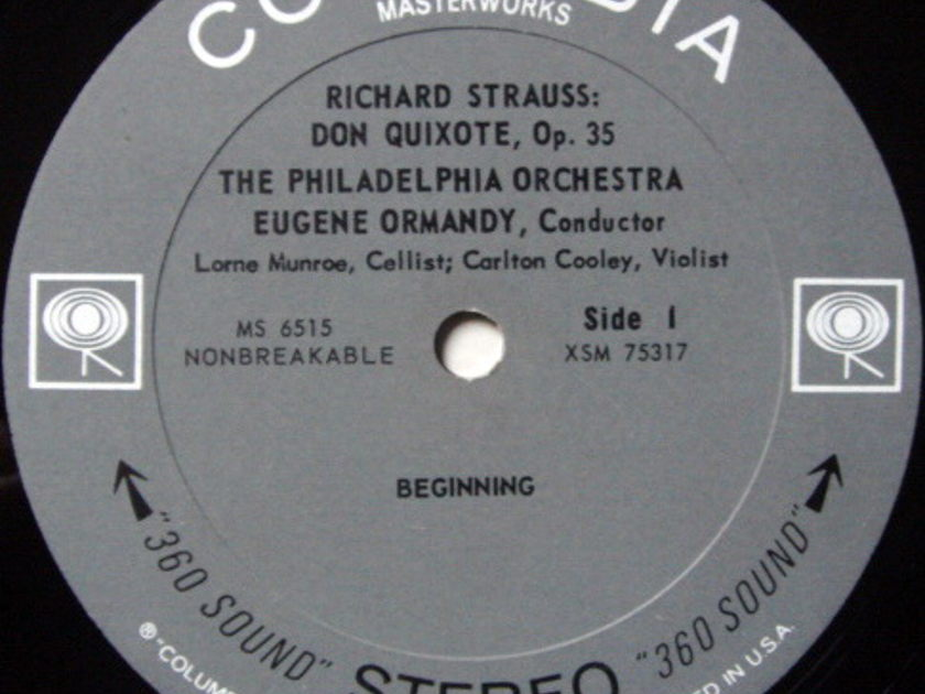 Columbia 2-EYE / EUGENE ORMANDY, - R. Strauss Don Quixote, MINT!