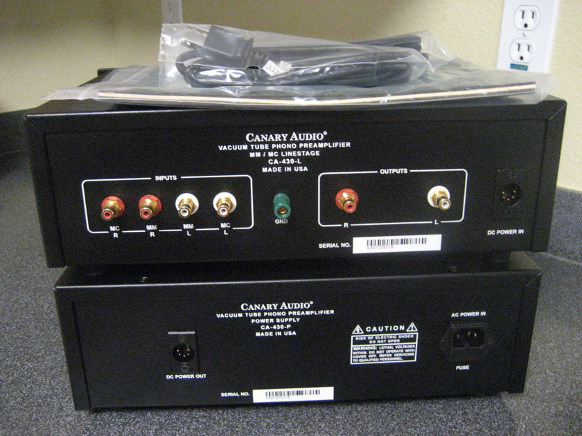 Canary Audio CA-430 tube phono stage/phono preamp