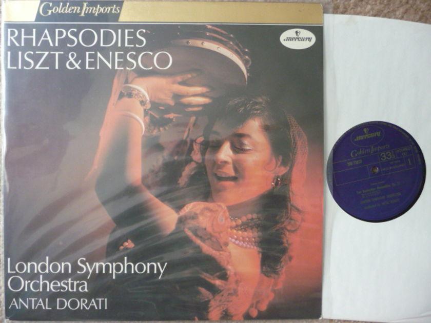 RHAPSODIES LISZT ENESCO - LONDON SYM ANTAL DORATI Mercury GOLDEN IMPORTS LP