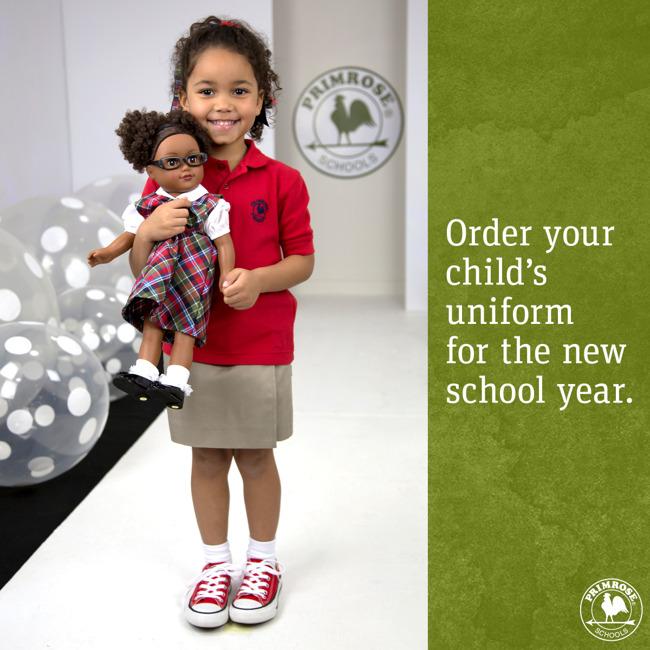 primrose school of west pearland; uniforms; 2019-2020; preschool; pre-kindergarten