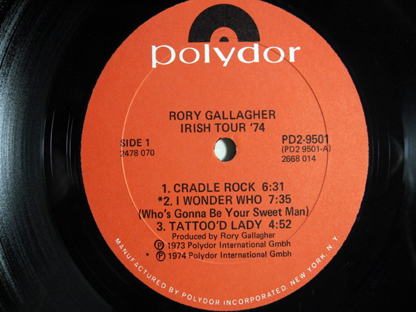 Rory Gallagher - Irish Tour '74 - Sterling Rob Ludwig Mastered - 1974 Polydor PD2-9501