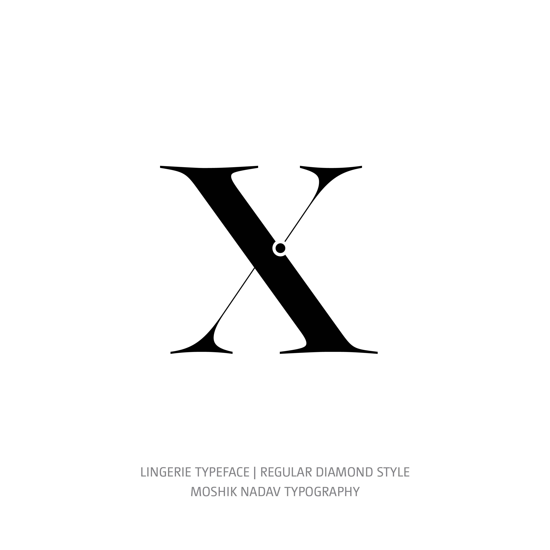 Lingerie Typeface Regular Diamond x