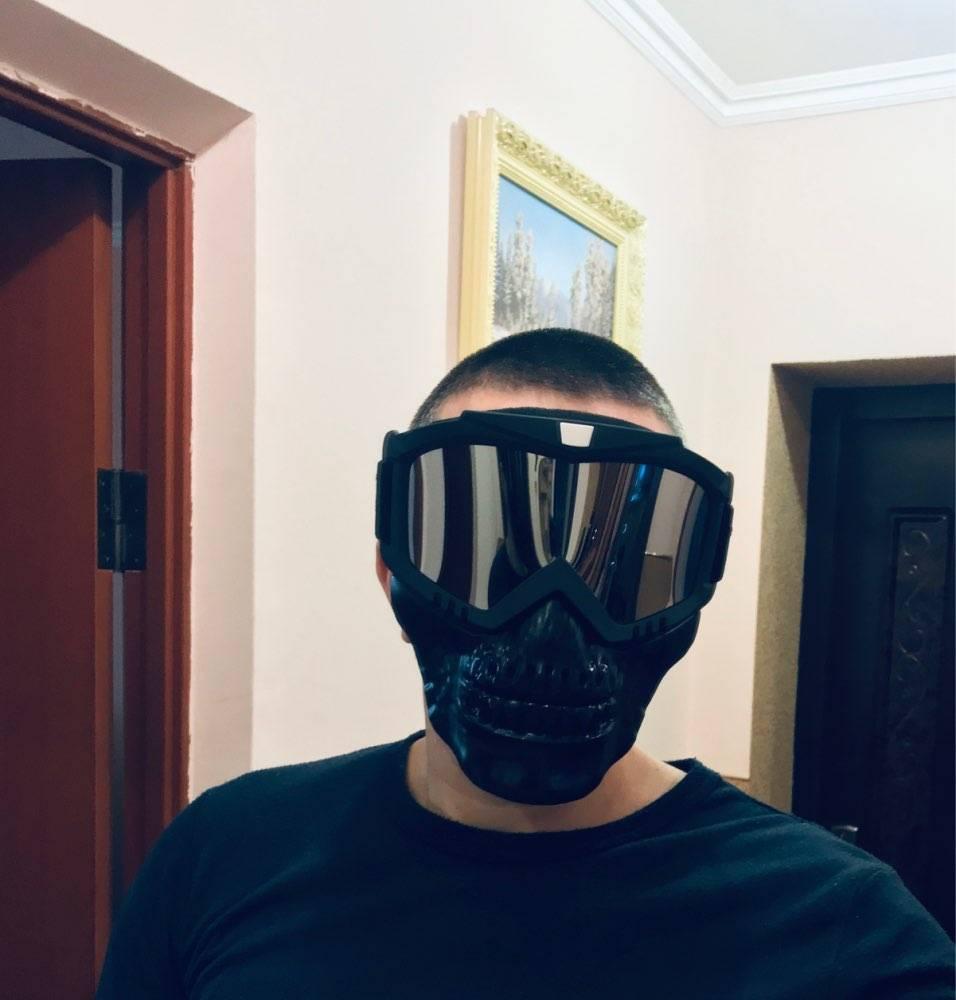 masque amovible trottinette electrique tete de mort securite