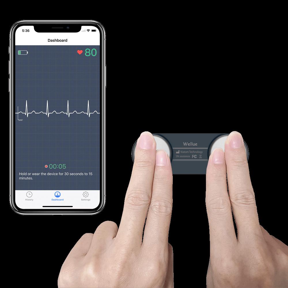 Il monitor ECG Wellue DuoEK funziona con l'app gratuita