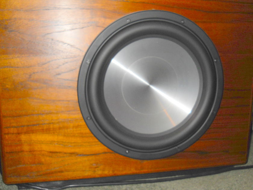 Custom Tannoy 2.1 Speaker System with Amplifiers All Professional Drivers in Teak Veneer Cabinets CUSTOM SYSTEM --   Massive price reduction for quick sale