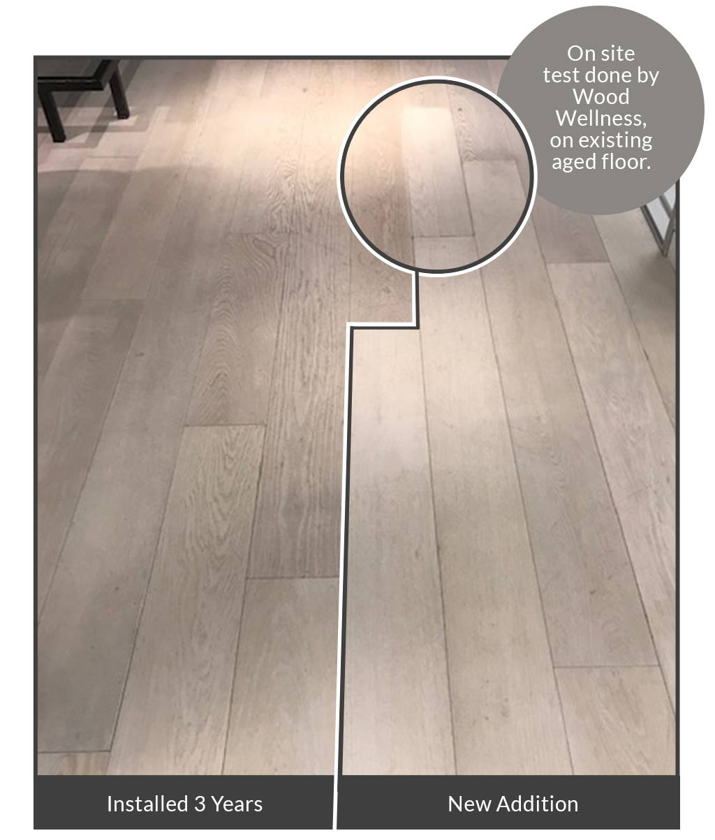 Image of a new floor addition installed by Wood Wellness