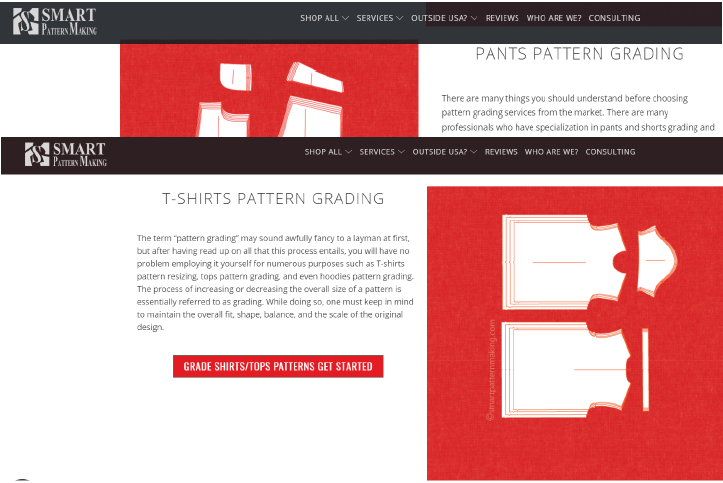 Pattern Grading And Resizing Services