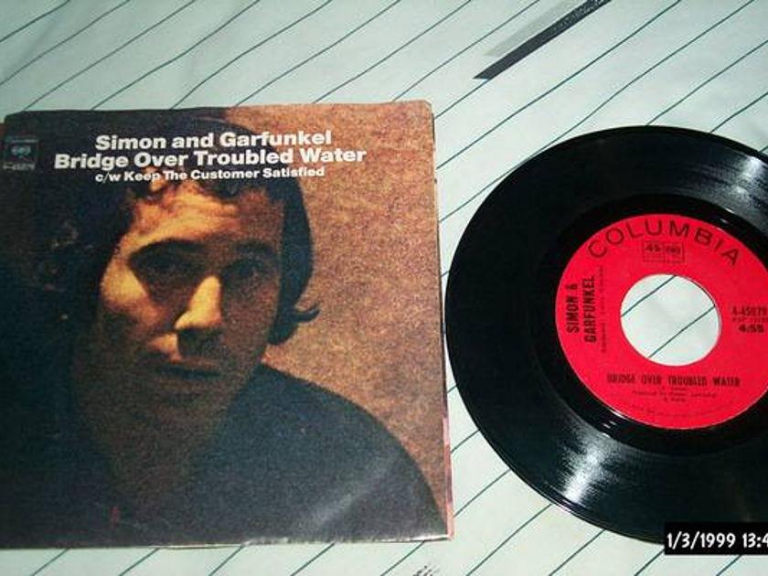 Simon/Garfunkel - Bridge  Over troubled waters 45 with sleeve