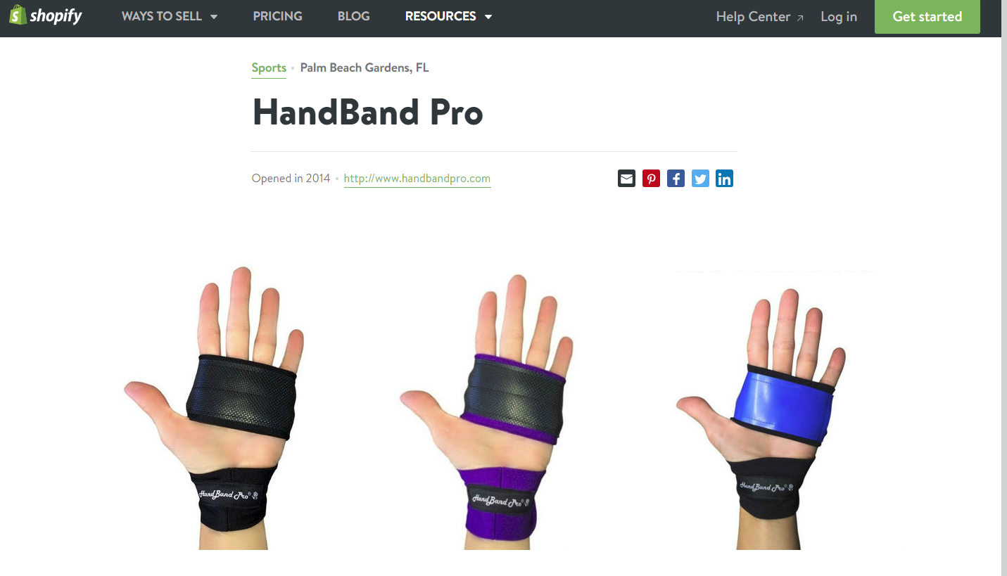 Shopify Success Store - Featuring HandBand Pro®