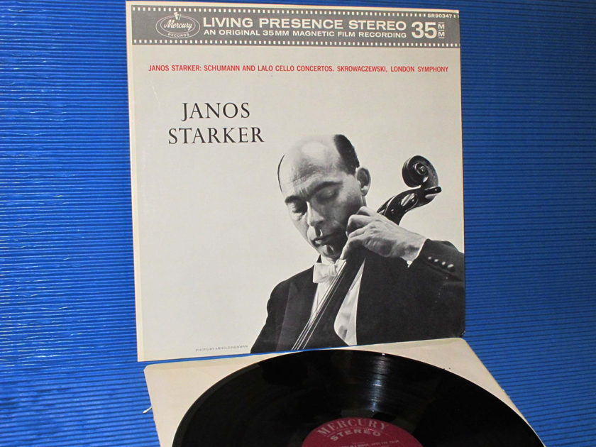 "JANOS STARKER   - ""Schumann and Lalo Cello Concertos""  Mercury Living Presence 1962 1st Pressing Promo!"