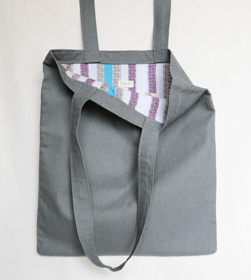 Текстильная сумка с вышивкой