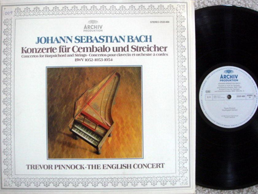 Archiv / PINNOCK, - Bach Concertos for Harpsichord & Strings,  MINT!