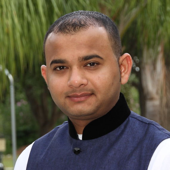 Harshil portrait photo from before Hair Club