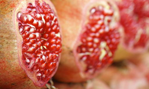 Pomegranate Fruit Rich in biologically active substances, e.g. Omega-5 acid with strong