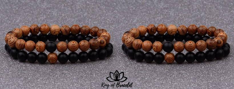 Bracelet pour Couple en Bois - King of Bracelet