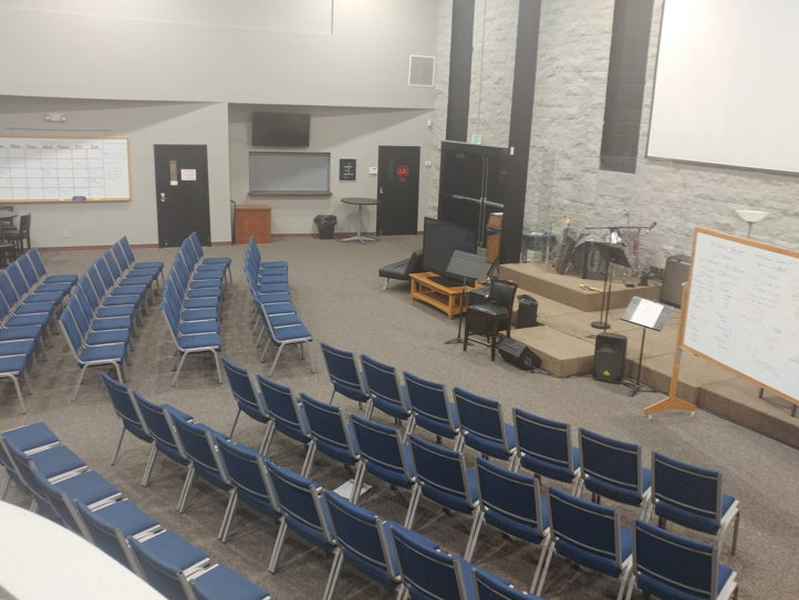 Versatile church or group meeting space