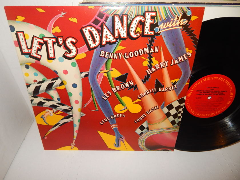 GENE KRUPA COUNT BASIE BENNY GOODMAN VARIOUS JAZZ - Let's Dance With 1980 Mono 1A/1B Mint LP