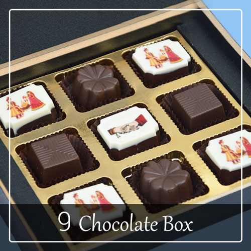 Wedding Invitation card with chocolates
