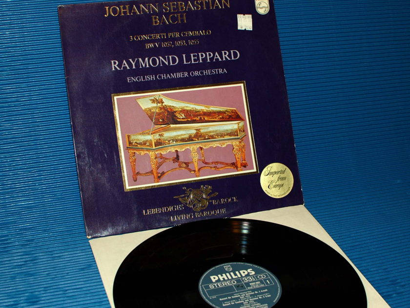 "BACH/Leppard -  - ""3 Concrtos for Harpsichord"" -   Philips 1971 1st pressing"