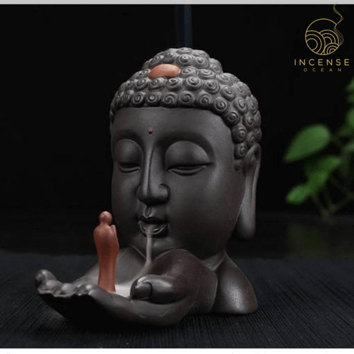 Ceramic Buddha Backflow Incense Burner