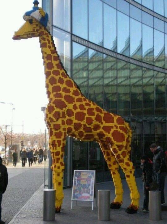 Life-sized giraffe