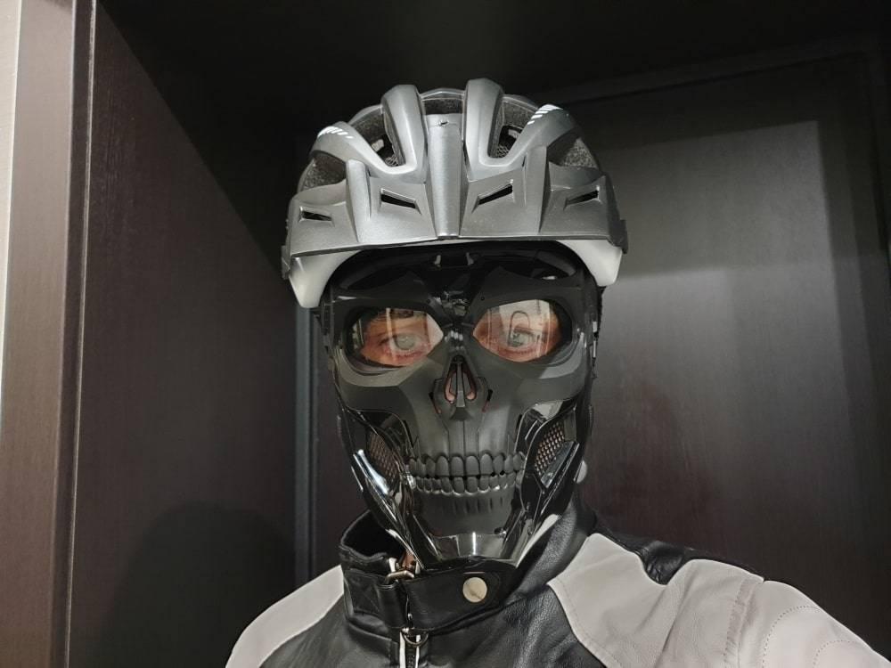 masque trottinette electrique cyborg magasin