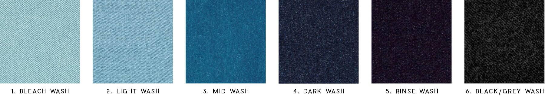 jean wash colors