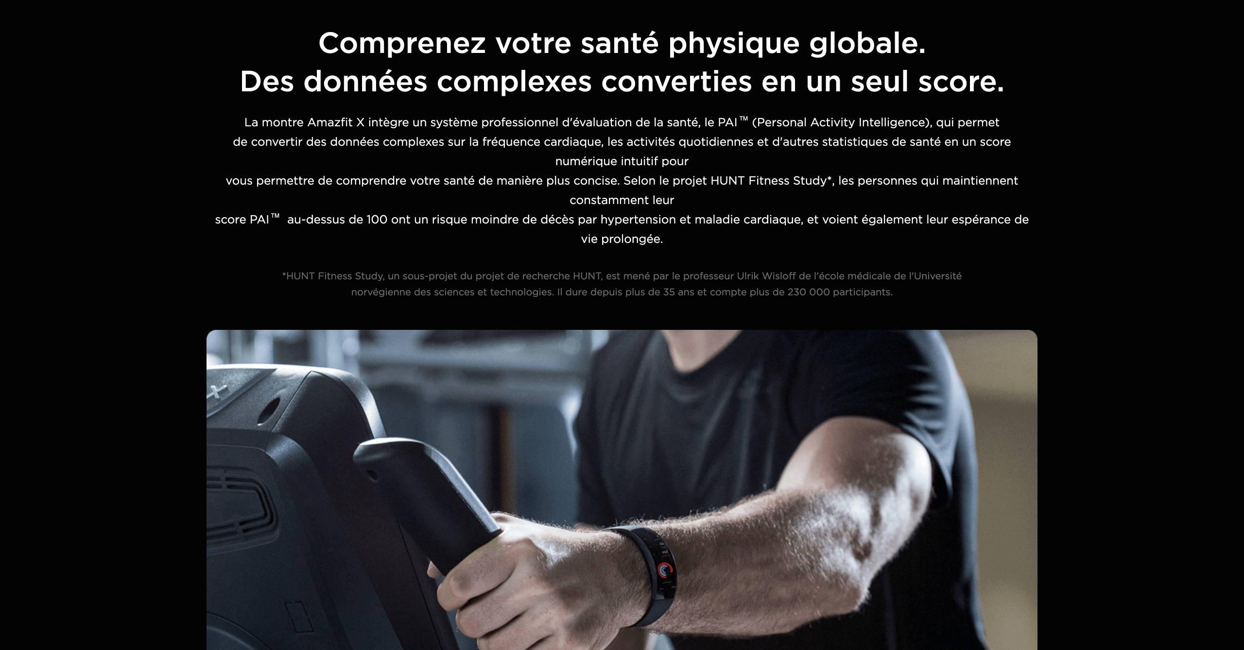 Amazfit X - Comprenez votre santé physique globale. Des données complexes converties en un seul score.