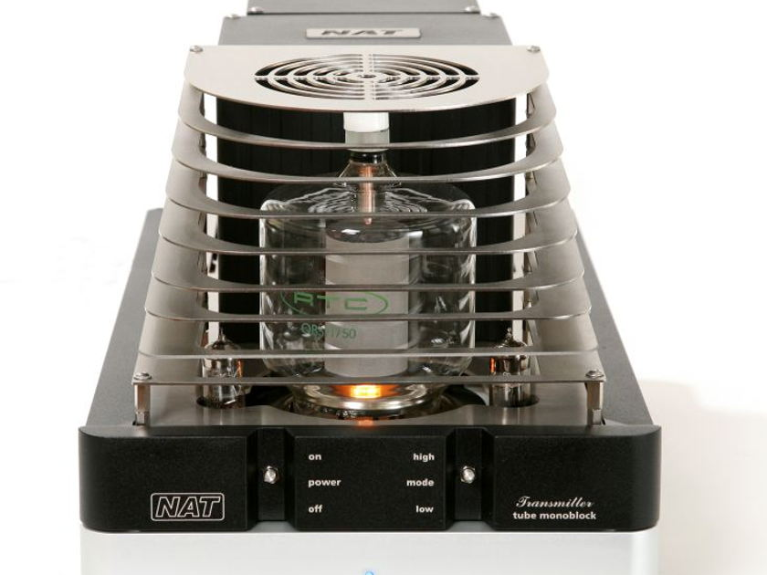 BRAND NEW FACTORY SEALED NAT AUDIO TRANSMITTER MONOBLOCKS WITH OPTIONAL OUTPUT TUBE GRILLS Inc.  120 WATT! SINGLE ENDED TRIODE £10'100  {Retail £17995+£990}  Absolute Steel Priced to sell to all ;-)