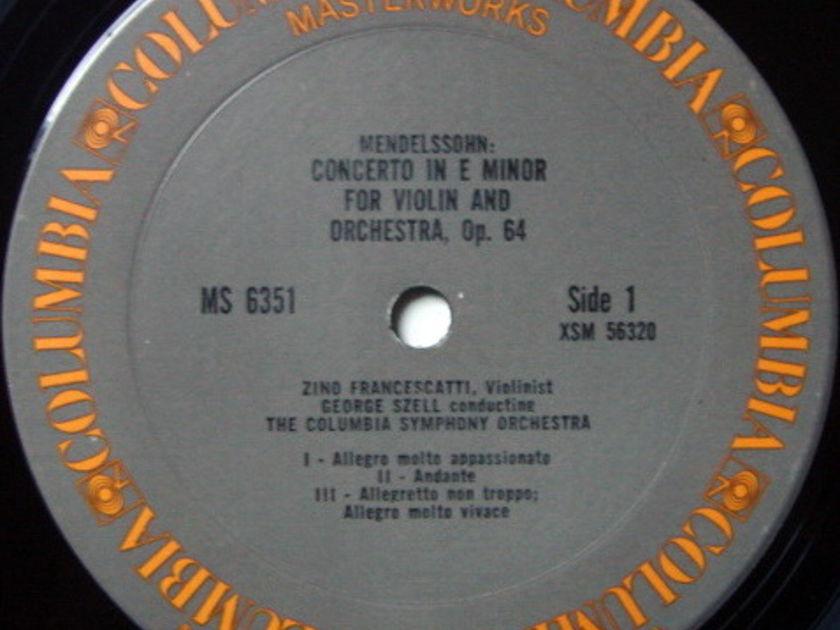 Columbia / FRANCESCATTI-SZELL, - Bruch-Mendelssohn Violin concertos, NM-!