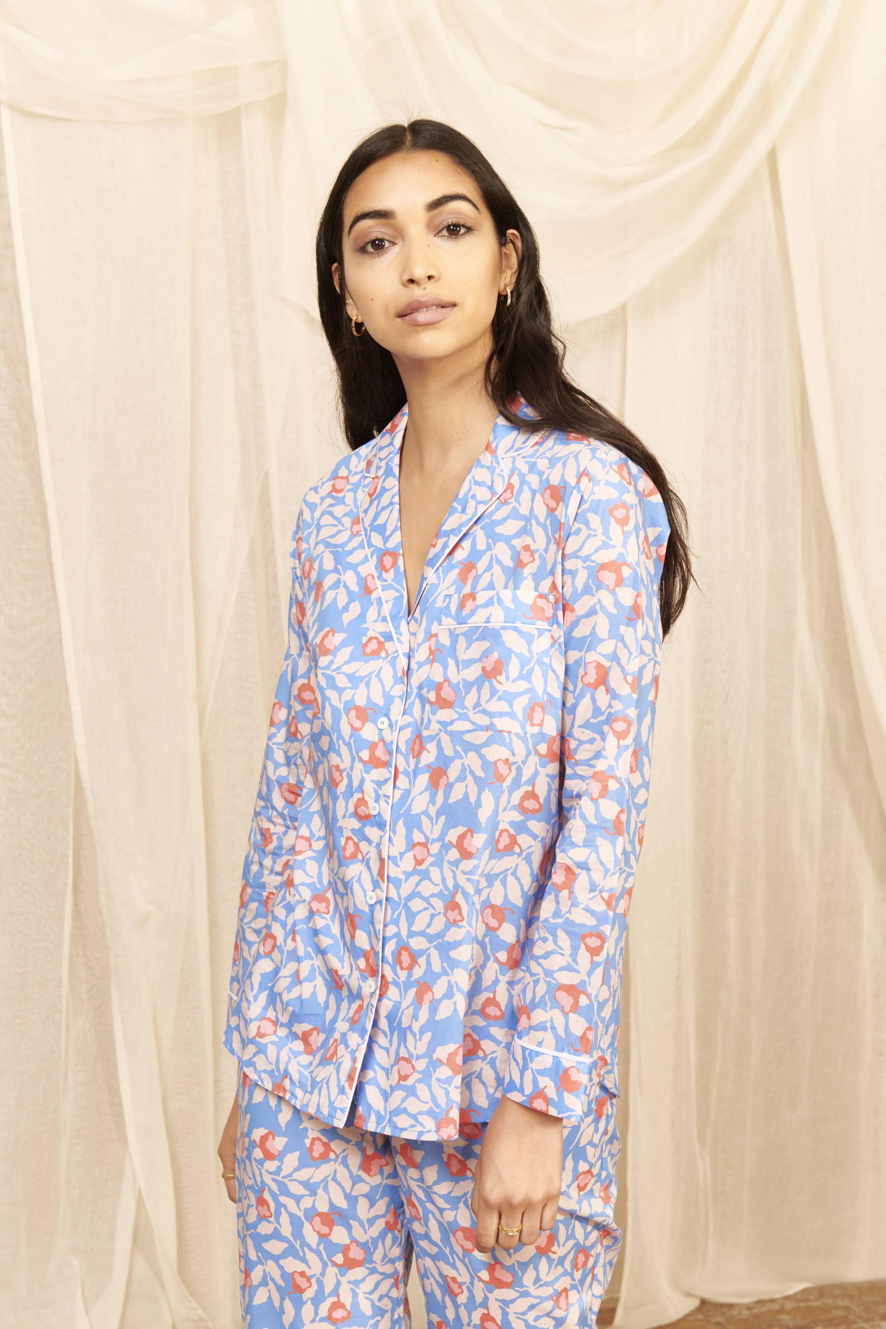 Nectarine Women's Cotton Pyjama Set   Cotton Pyjama Sets   YOLKE