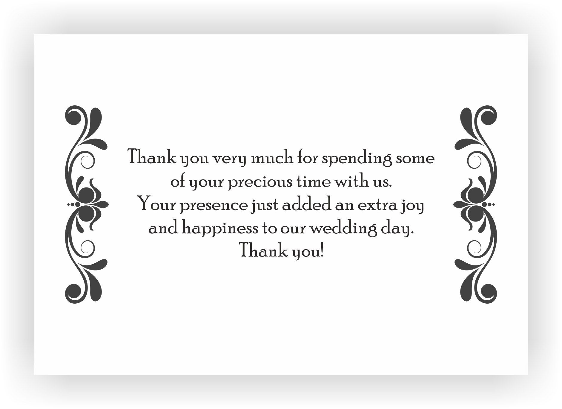 Thank You For A Wedding Gift: Thank You Note To Accompany Your Wedding Return Gift