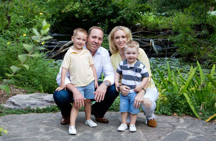 Franchise Owners of Primrose School Matt and Anne Evers with their family