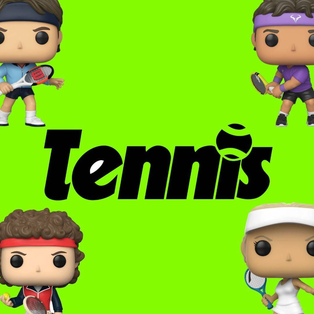 Bobble head, bobble-heads, funko, John McEnroe, Sports, Tennis, under-1000, Roger federer, Serena Williams, Maria Sharapova, Rafael Nadal, John Mcenroe,  Bjorn Borg, Venus Williams