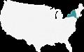 A map highlighting New York