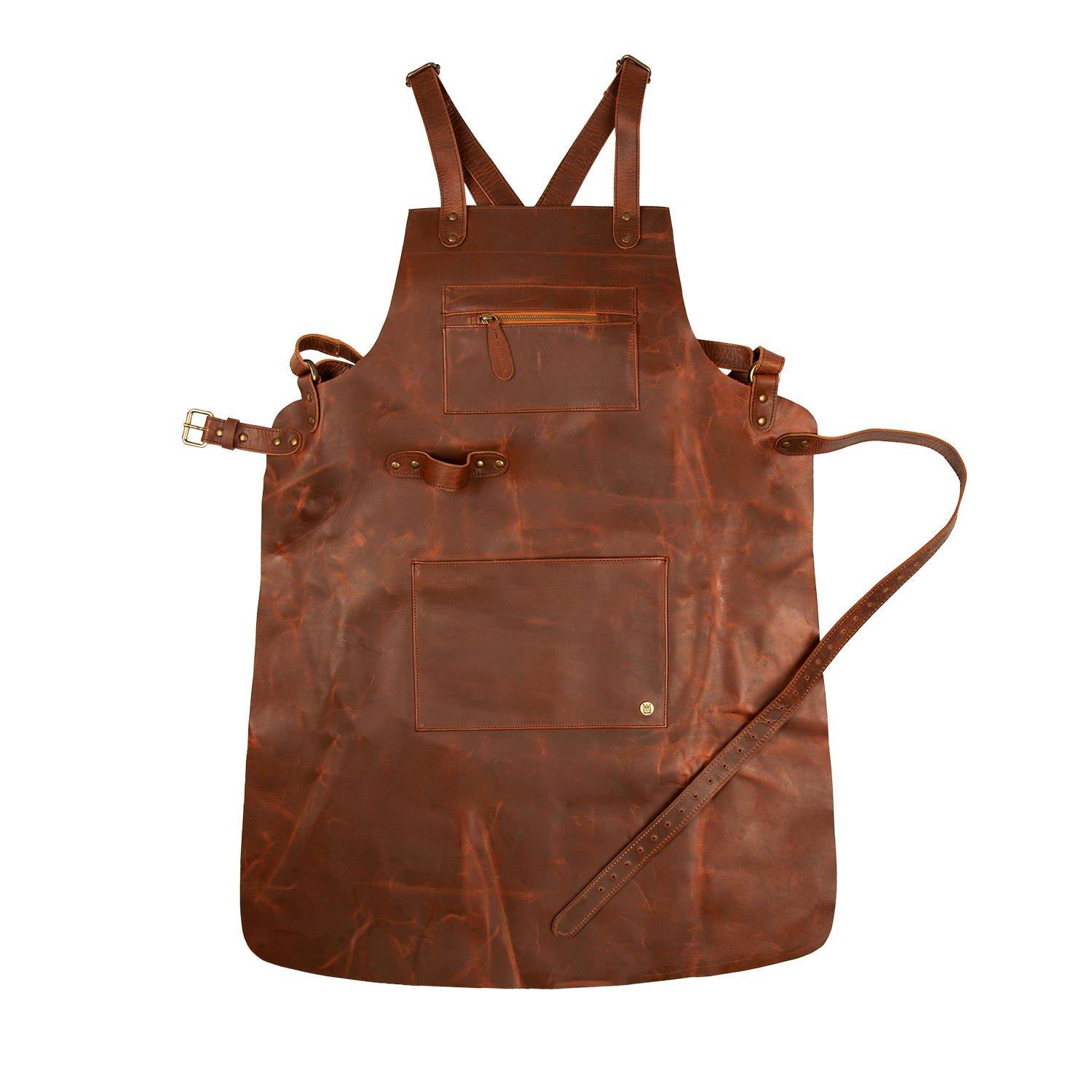 Cross over back leather apron - MAHI Leather