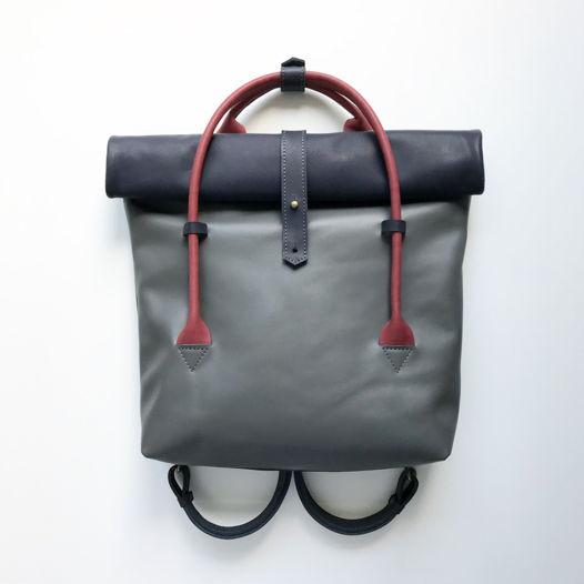 Кожаный рюкзак-сумка Rolltop Blueberry Nights