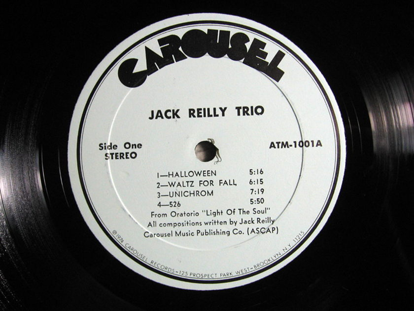JACK REILLY TRIO - Blue-Sean-Green - 1974 Rare Private Press - Carosuel Records ATM-1001