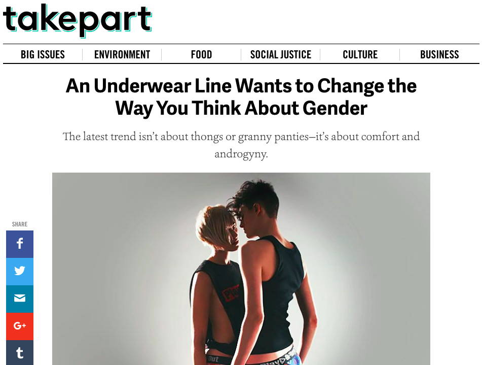 TakePart.com - An Underwear Line Wants to Change the Way You Think About Gender